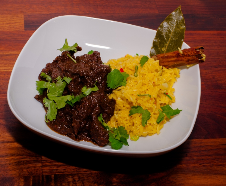 The finished Beef Rendang is succulent, spicy, aromatic - it's basically a hug in a bowl and perfect food for dreicht Scottish winter days.