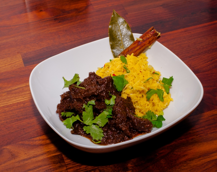 Ox Cheek Beef Rendang served with Spicy Rice